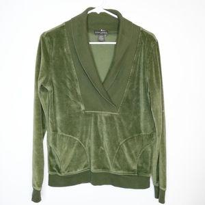 Banana Republic Velour Pullover V-neck Sweater M